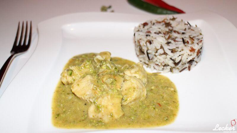 Pista Murgh Curry vom Huhn mit Pistazien