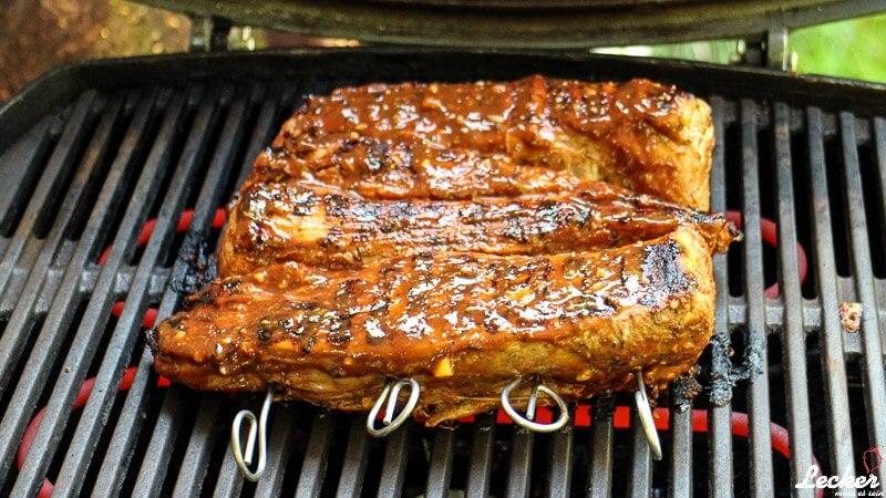 Schweinefilets vom Grill mit BBQ-Sauce