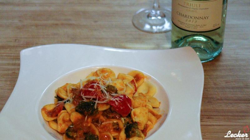 Orecchiette mit Salsiccia und Broccoli
