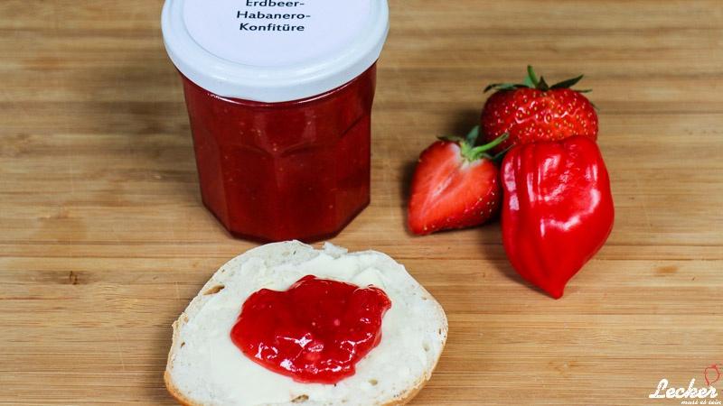 Erdbeer-Habanero-Marmelade
