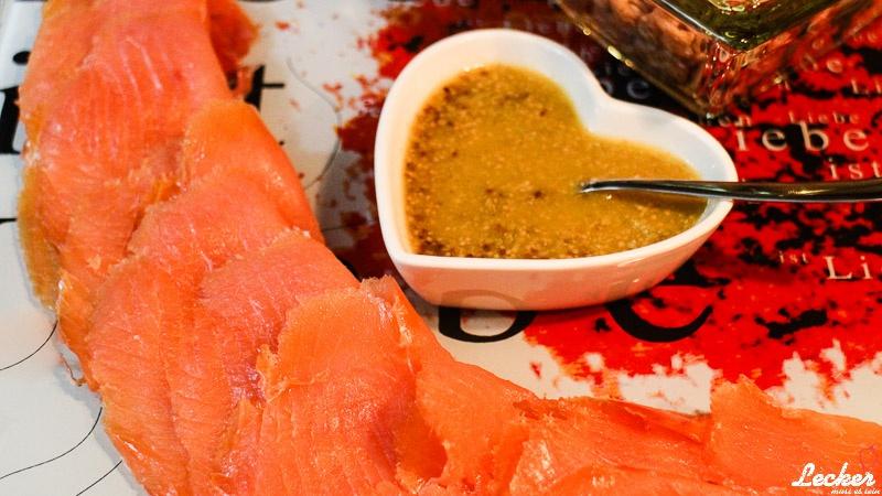 Orangen-Honig-Senf-Sauce