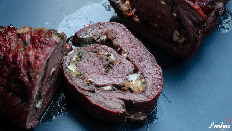 Gegrillter Rollbraten vom Flank Steak