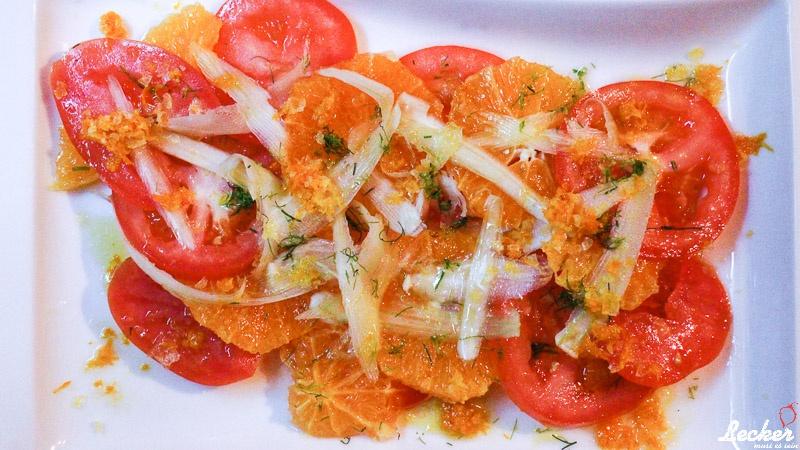 Orangen-Tomaten-Salat