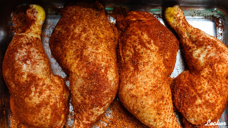 Pulled Chicken vom Gasgrill