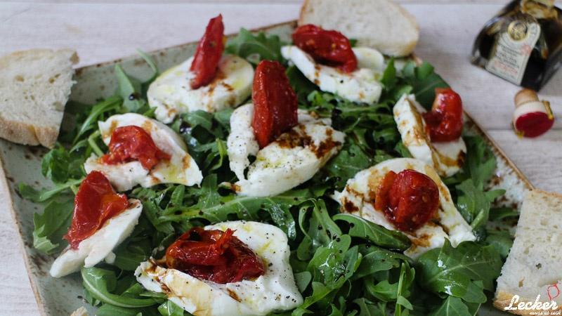 Italienischer Mozzarellaigel - Büffelmozzarella | Halbgetrocknete Tomaten | Aceto Balasimco