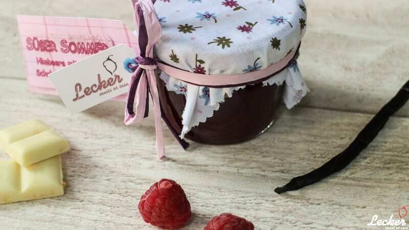 Himbeer-Weiße Schokolade-Vanille Konfitüre