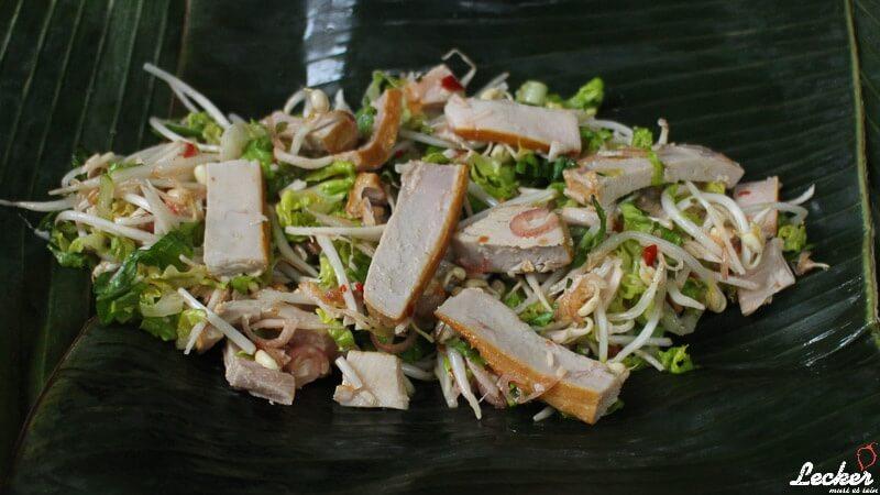Geräucherter Thunfisch und Sprossen