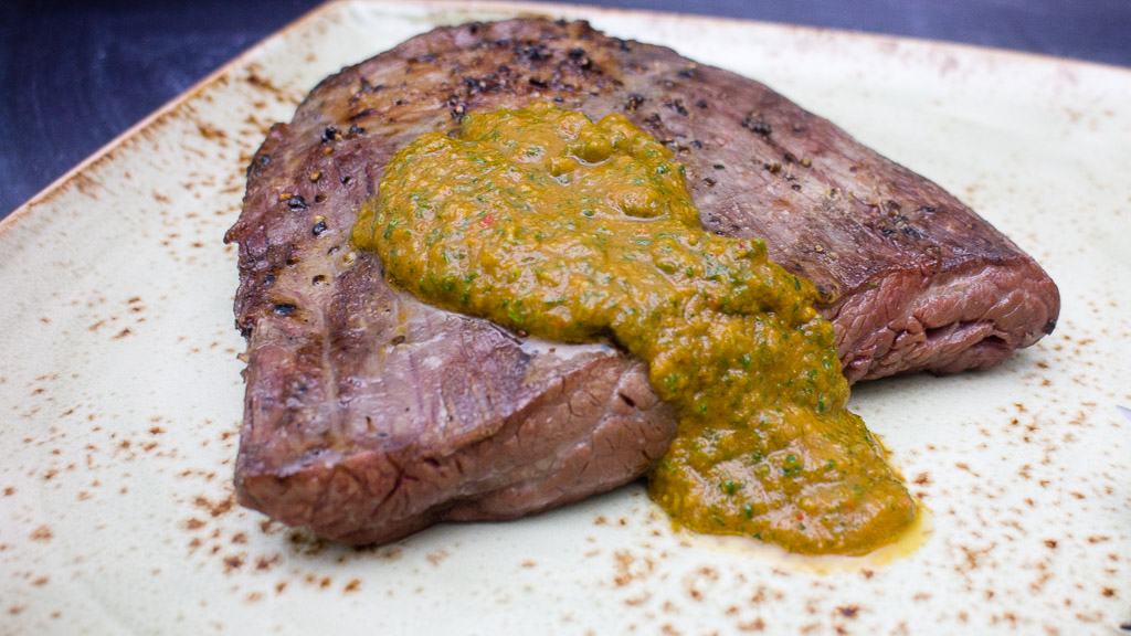 Flanksteak Frankfurter Grüne Sauce trifft auf Pepre
