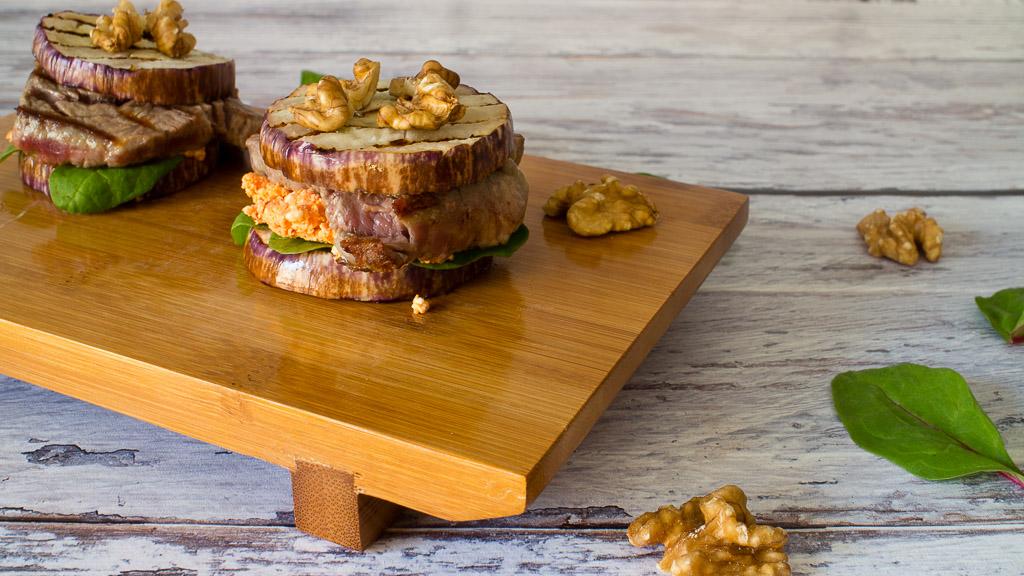 Auberginen Slider - Low Carb Burger