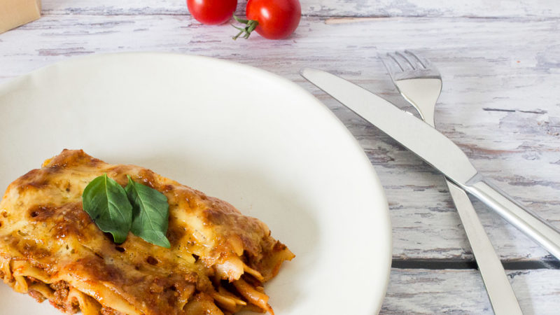 Schnelle Lasagne ohne Bechamelsauce